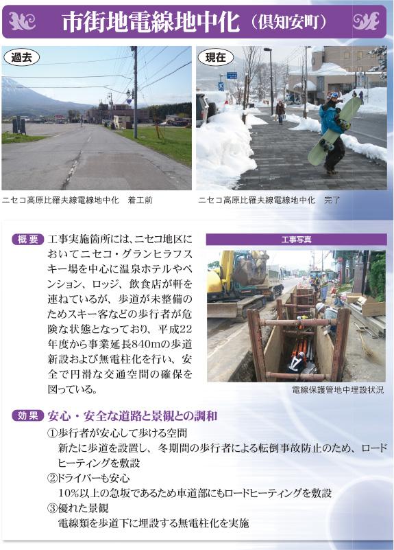 市街地電線地中化(倶知安町)